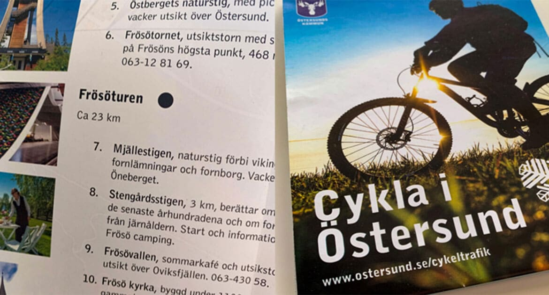 Cyklekarta Östersund