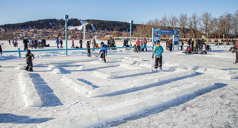 Skridskolek i Vinterparken