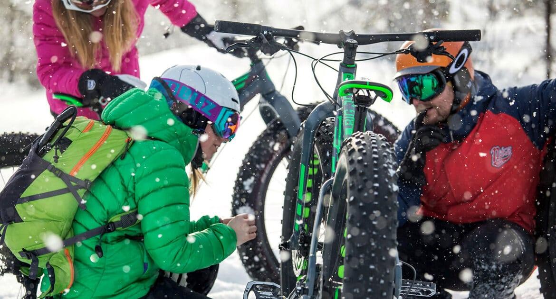 Vintercyklister