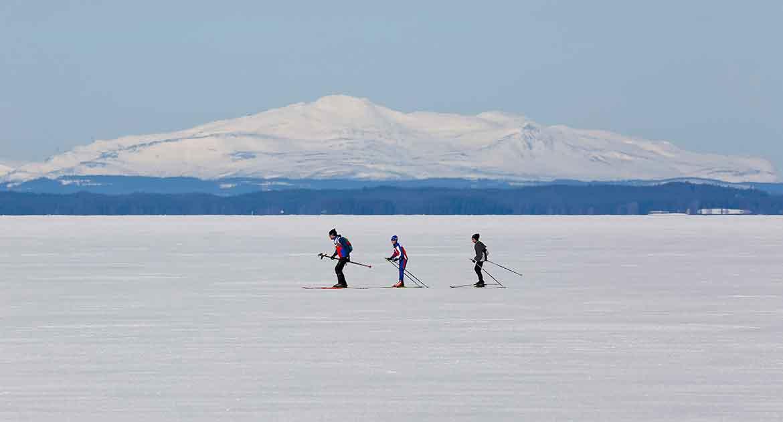 Skidor på Storsjön
