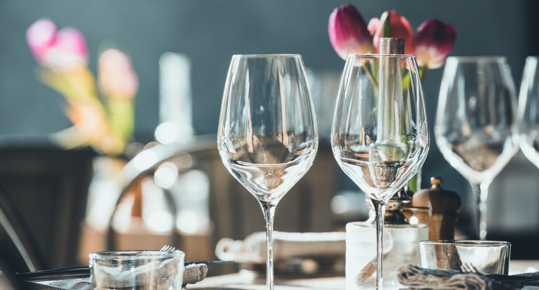 Bord och glas